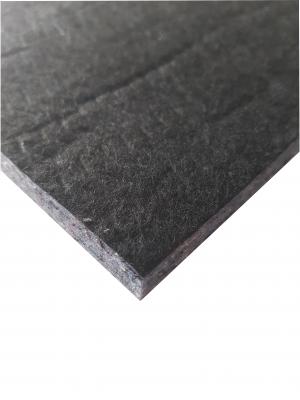 (Rest 4) Innenraumdämmung mit schwarzem Abdeckvlies  ca.115 x 55 cm
