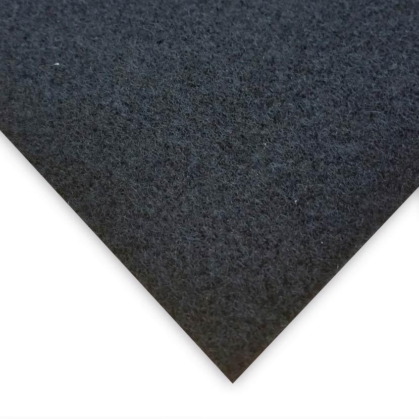 Nadelvlies Teppich schwarz (vollflächig selbstklebend)