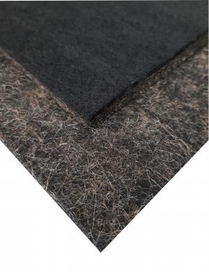 (U - 6) Unterbau Kenaf - Vlies braun schwarz, ca. 10mm stark ca. 100 x 50 cm