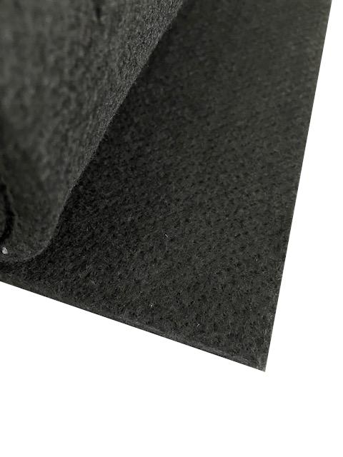 (U - 2) Unterbau Vlies - Propylat schwarz ca. 1000g/m²/ ca. 6 mm ca. 250 x 100 cm