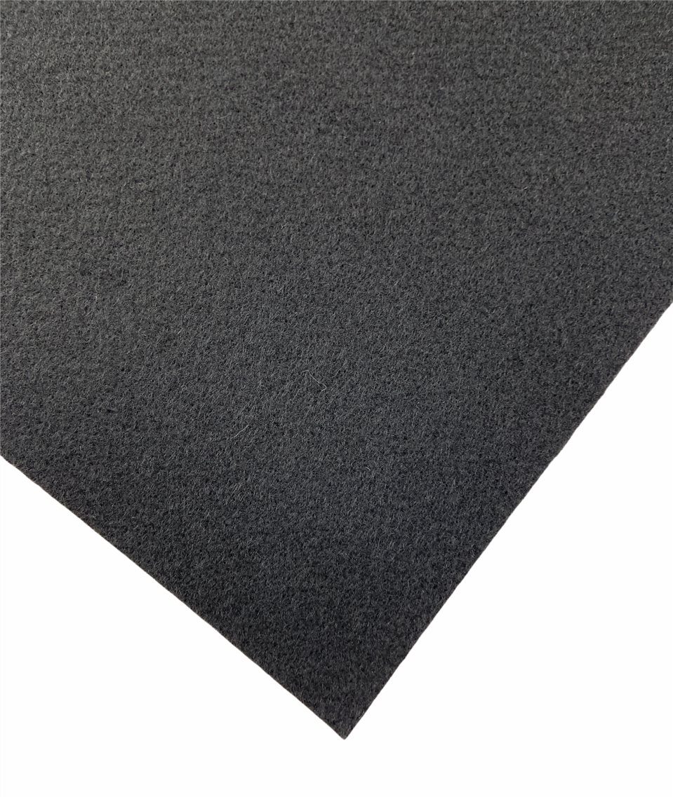 (Restposten)  Nadelvlies Teppich schwarz (selbstklebend)