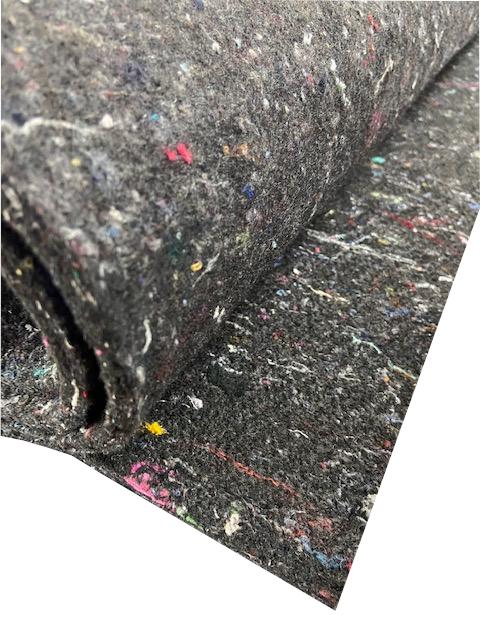 (U - 4) Unterbau Vlies - Propylat grau/ bunt ca. 1000g/m²/ ca. 8 mm ca. 250 x 100 cm