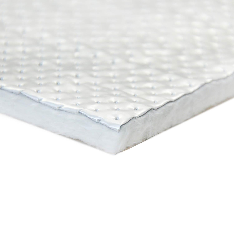 (10) Hitzeschild - Glasfasermatte mit geprägter Aluminiumfolie