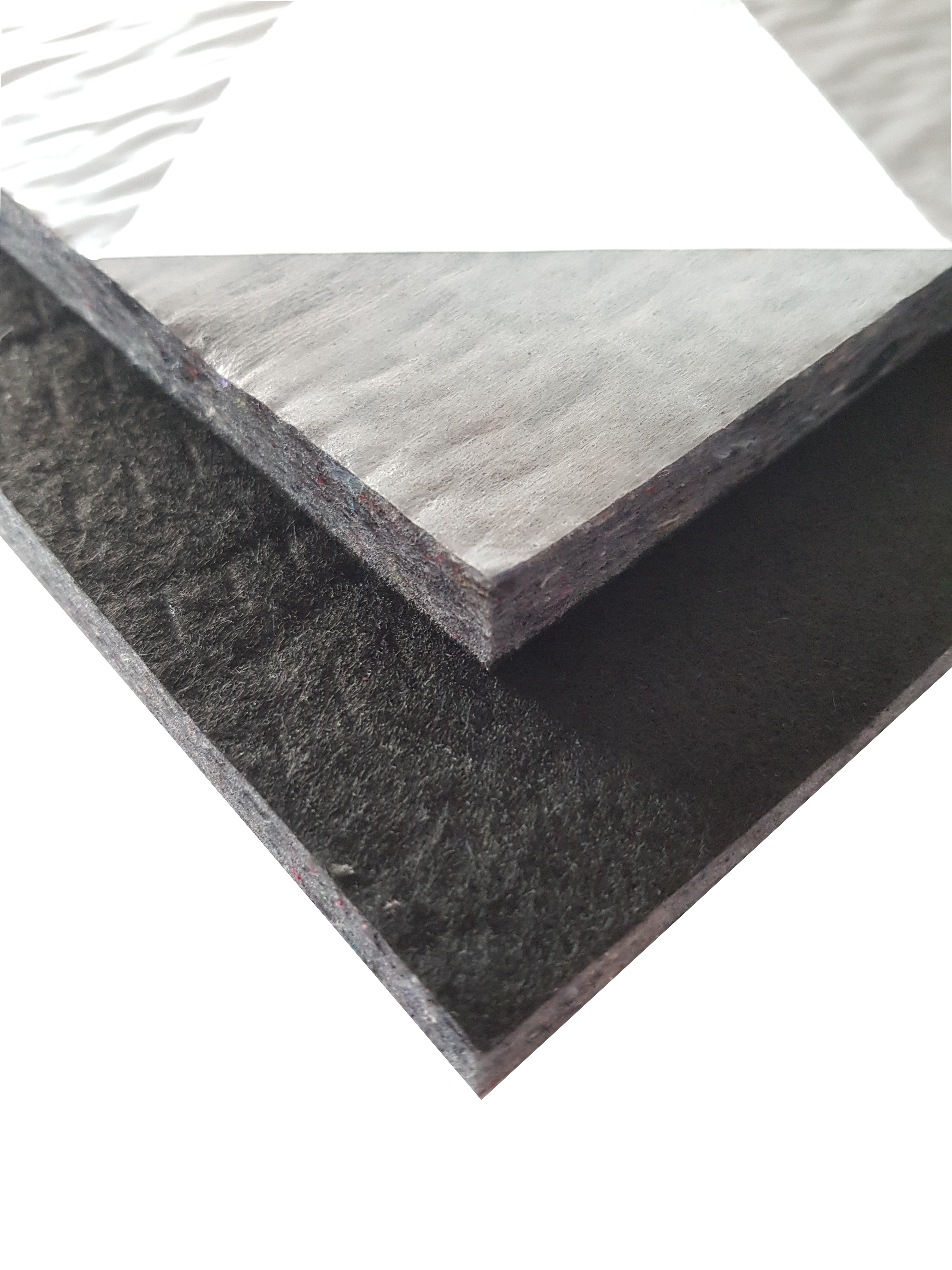 (210) Innenraumdämmung mit schwarzem Abdeckvlies  ca.120 x 60 cm Stärke: ca. 10 mm