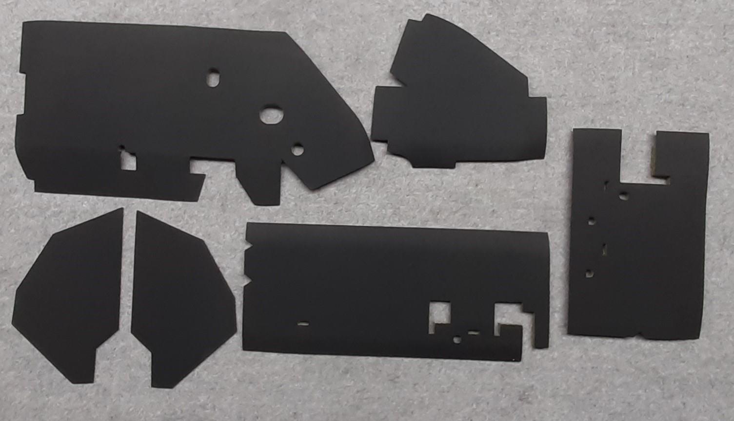 Innenverkleidungs-/ Dämmungsmaterial 6-teilig innen -Top-Qualität / wie Original-, 2CV ab 03/1978 & AK
